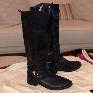 Black Tory Burch Tall Riding Boot